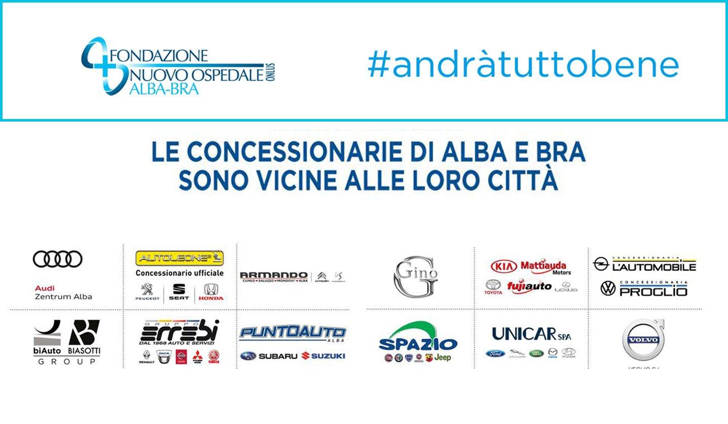 Le concessionarie d'auto di Alba e Bra donano 120mila euro alla sanità locale