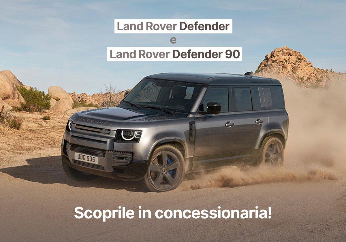 Nuova Land Rover Defender e Defender 90 ti aspettano da Unicar - Offerte Unicar Spa