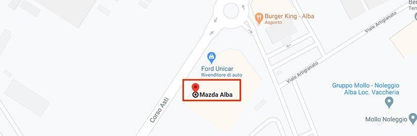 Mappa Concessionaria Mazda per evento