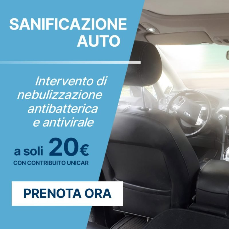 Sanificazione Auto (no-landing) - Offerte Unicar Spa