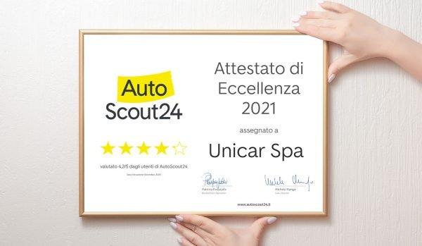 Attestato di Eccellenza 2021 - Unicar Spa
