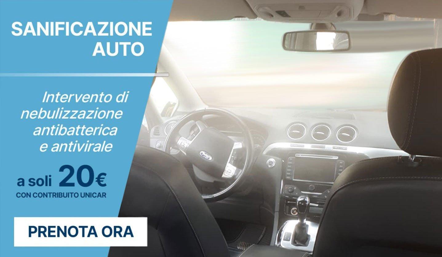 sanificazione professionale auto